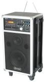 Mobilní karaoke systém s VHF mikrofonem 250W, DVD/MP3/SD/USB/VHF
