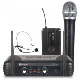 Bezdrátový mikrofon set ruční a headset mikrofon UHF