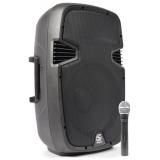 Aktivní reprobox 600W s bezdrátovým VHF mikrofonem