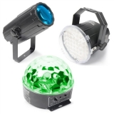 BeamZ Party SET: 3 efekt: LED spot, Half Ball, Stroboskop LED