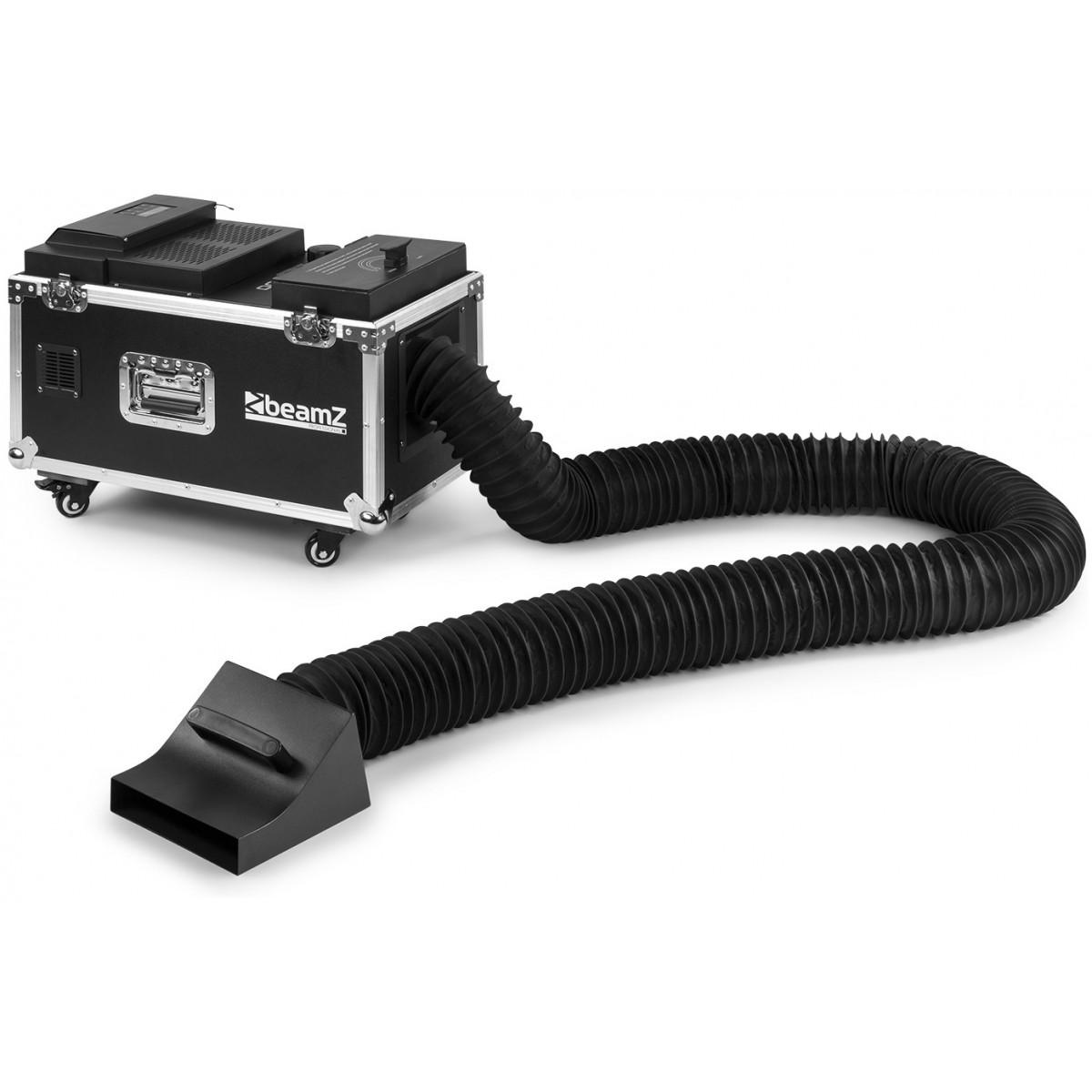BeamZ LF1500 výrobník plazivé mlhy Low Fog, DMX, s přepravním casem