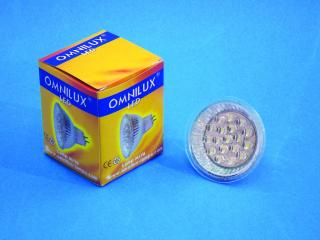 12V MR-16 GX-5.3 Omnilux, 18 LED bílá, 3000K