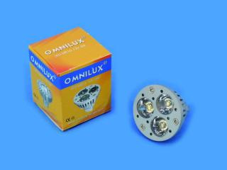 12V MR-16 GU-5.3 Omnilux, 3x1W LED zelená