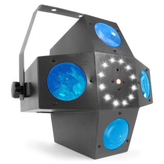 BeamZ LED Multitrix, 20x1W RGBWA + 12xSMD LED + 225mW RG laser, strobo